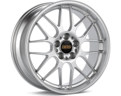 BBS RGR Series Wheels - Sport silver painted center, diamond-cut rim, clear protective top coat.