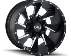 Cali Off-Road DISTORTED 9106 Series Wheels - satin black with milled spokes