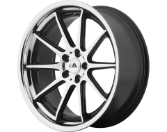 Adventus AVS-4 Series Wheels - Gloss black machined with ss lip