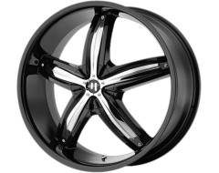 Helo Wheels HE844 - Gloss Black - Removable Chrome Accents