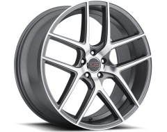 Milanni 9052 Tycoon Wheels - Graphite Mirror Machined Face