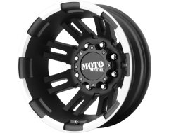 Moto Metal MO963 Series Wheels - Matte black machined - rear