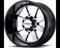 Moto Metal MO962 Series Wheels - Pvd center gloss black lip