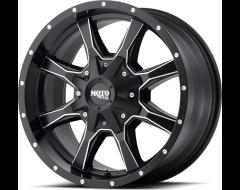 Moto Metal MO970 Series Wheels - Satin black milled
