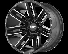 Moto Metal MO978 RAZOR Series Wheels - Satin black machined