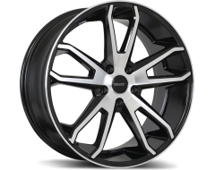 Fast Wheels Falcon - Gloss Black with Machined Face