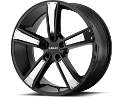 Helo HE899 Series Wheels - Satin black machined with gloss black & chrome inserts