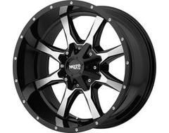 Moto Metal MO970 Series Wheels - Gloss black machined face