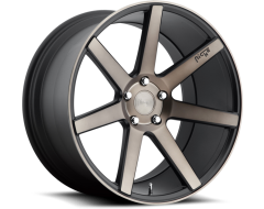 Niche Verona Series Wheels - Matte Black with Machined Face and Double Dark Tint