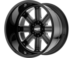 Moto Metal MO402 Series Wheels - Gloss black milled