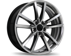 Replika Wheels R195 Series - Dark Hyper Silver
