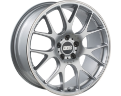 BBS CHR Series Wheels - Diamond silver, polished stainless steel rim protector.