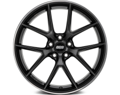 BBS CIR Series Wheels - Black center, polished stainless steel rim protector.