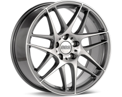 BBS CXR Series Wheels - Anthracite with diamond-cut face, clear protective top coat.