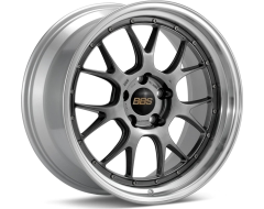 BBS LMR Series Wheels - Diamond black painted center, diamond-cut rim, clear protective top coat.