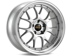 BBS LMR Series Wheels - Diamond silver painted center, diamond-cut rim, clear protective top coat.
