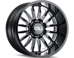 Cali Off-Road SUMMIT 9110 Series Wheels - gloss black with milled spokes