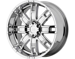 Helo Wheels HE835 - Silver - Machined