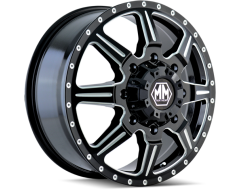 Mayhem MONSTIR 8101 Series Wheels - front black with milled spokes