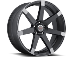 Milanni 9042 Sultan Wheels - Matte Black w\Anthracite Spoke Ends