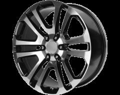 OE Creations Wheels PR158 - Gloss Black - Machined Face