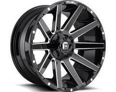 Fuel Off-Road Wheels D615 CONTRA - Gloss Black Milled