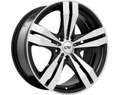 DAI Wheels Target Classic Series - Gloss Black - Machined Face