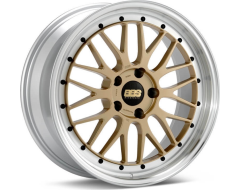 BBS LM Series Wheels - Gold painted center, diamond-cut rim, clear protective top coat.