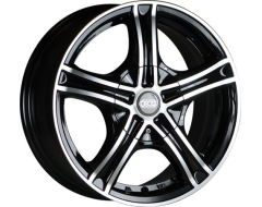 Ceco Series 245 Series Wheels - Black machined