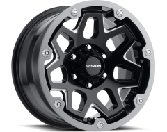 Vision Wheels 416 Se7en - Gloss Black - Milled spokes