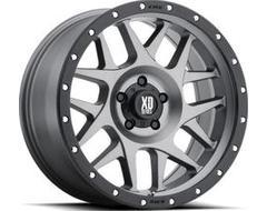 XD Series Wheels XD127 BULLY - Matte Grey - Black Ring