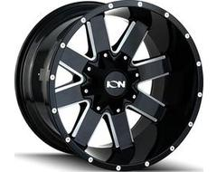 Ion Wheels 141 Series - Gloss Black - Milled spokes