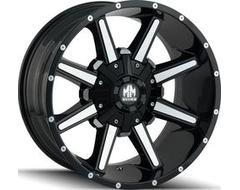 Mayhem ARSENAL 8104 Series Wheels - gloss black with machined face