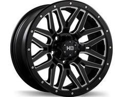 Fast Wheels Menace - Satin Black with Milled Trim