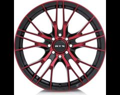 RTX Vertex Wheels - Black - Machined Red