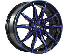 DAI Wheels Frantic Tuning Series - Gloss Black - Machined face blue