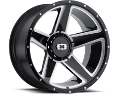 Vision Wheels 390 Empire - Gloss Black - Milled spokes