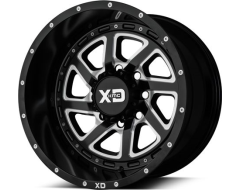 XD Series Wheels XD833 RECOIL - Satin Black - Milled With Reversible Ring