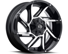 Vision Wheels 422 Prowler - Gloss Black - Machined Face