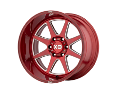 XD Series Wheels XD844 PIKE - Brushed red - Milled accent