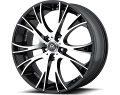 Lorenzo WL34 Series Wheels - Gloss black with machined face