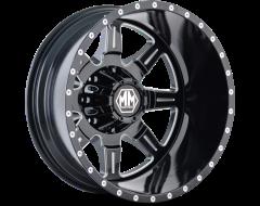 Mayhem MONSTIR 8101 Series Wheels - rear black with milled spokes