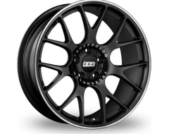 BBS CHR Series Wheels - Black center, polished stainless steel rim protector.