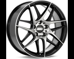 BBS CXR Series Wheels - Black with diamond-cut face, clear protective top coat.