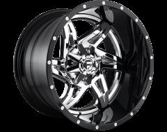Fuel Off-Road Wheels D272 ROCKER - Chrome Plated - Gloss Black lip