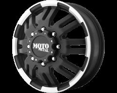 Moto Metal MO963 Series Wheels - Matte black machined - front