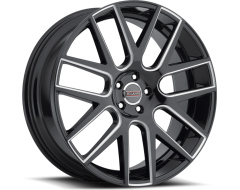 Milanni 9022 Virtue Wheels - Gloss Black Milled Spoke
