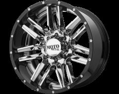 Moto Metal Wheels MO202 - Chrome Center Gloss Black - Milled lip