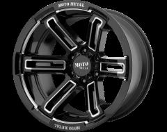 Moto Metal MO991 RUKUS Series Wheels - Gloss black milled