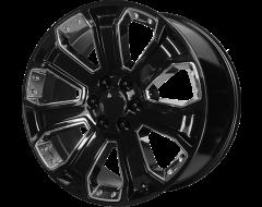 OE Creations Wheels PR113 - Gloss Black - Chrome Accents